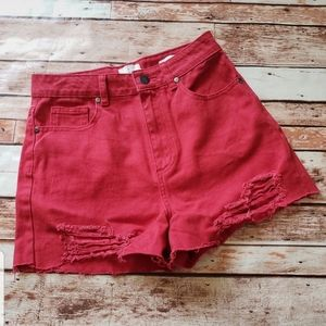 Size 4 red shorts